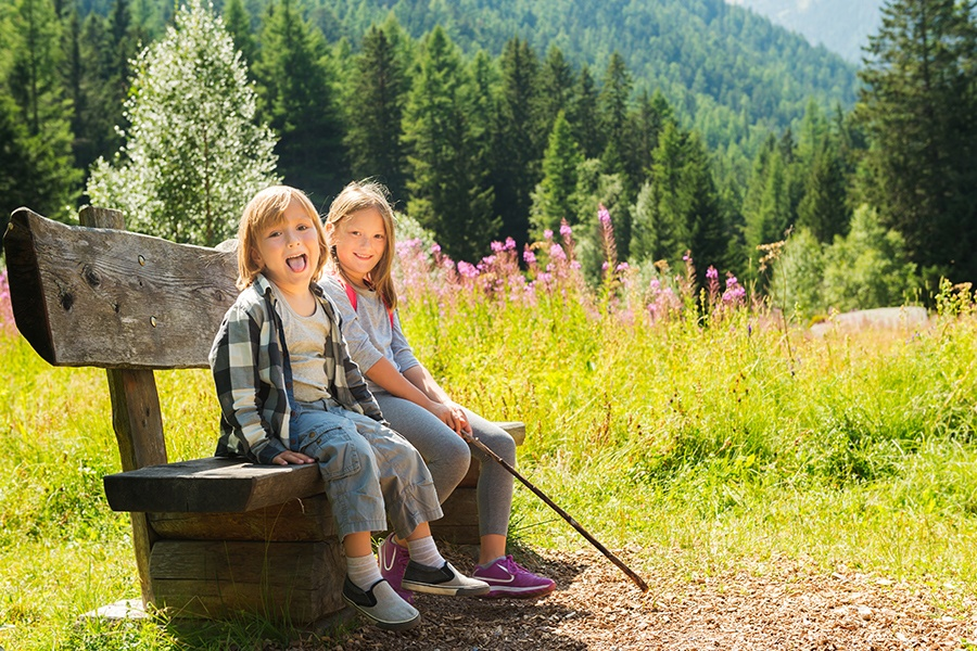 Children outdoors in Switzerland